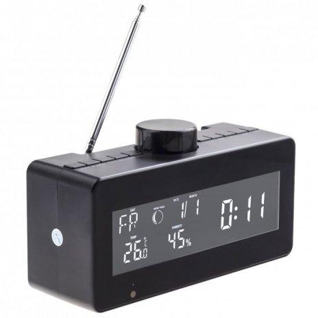Rádiobudík s meteostanicou a otočnou WiFi kamerou Secutek SAH-IP80