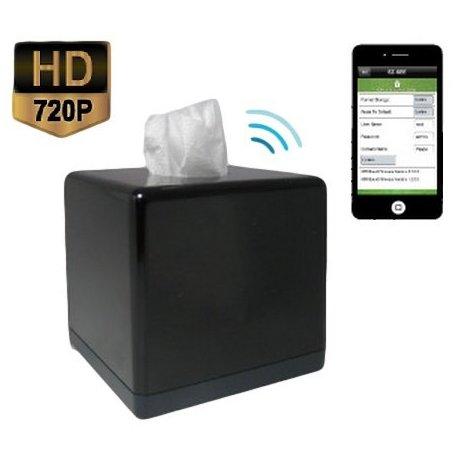 Kapesníčky se skrytou IP kamerou, WiFi - HD, P2P, IR
