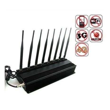 20W rušička signálu (GSM, GPS, 3G, WiFi, 4G, LTE)