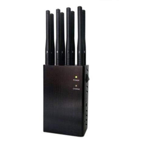 4W přenosná rušička mobilních telefonů (3G, 4G, LTE, GSM, GPS, WiFi)