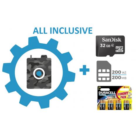 Nastavenie fotopasce + SIM karta + 32GB SD karta + batérie