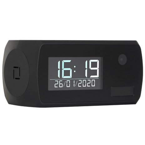 Digitális ébresztőóra rejtett WiFi kamerával Secutek SAH-LS006