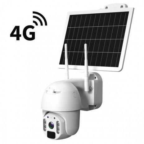 Batteriebetriebene Solar 4G IP PTZ Kamera Secutek SBS-QSD05G
