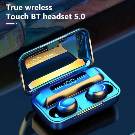 Bluetooth TWS слушалки F9-5C - черни