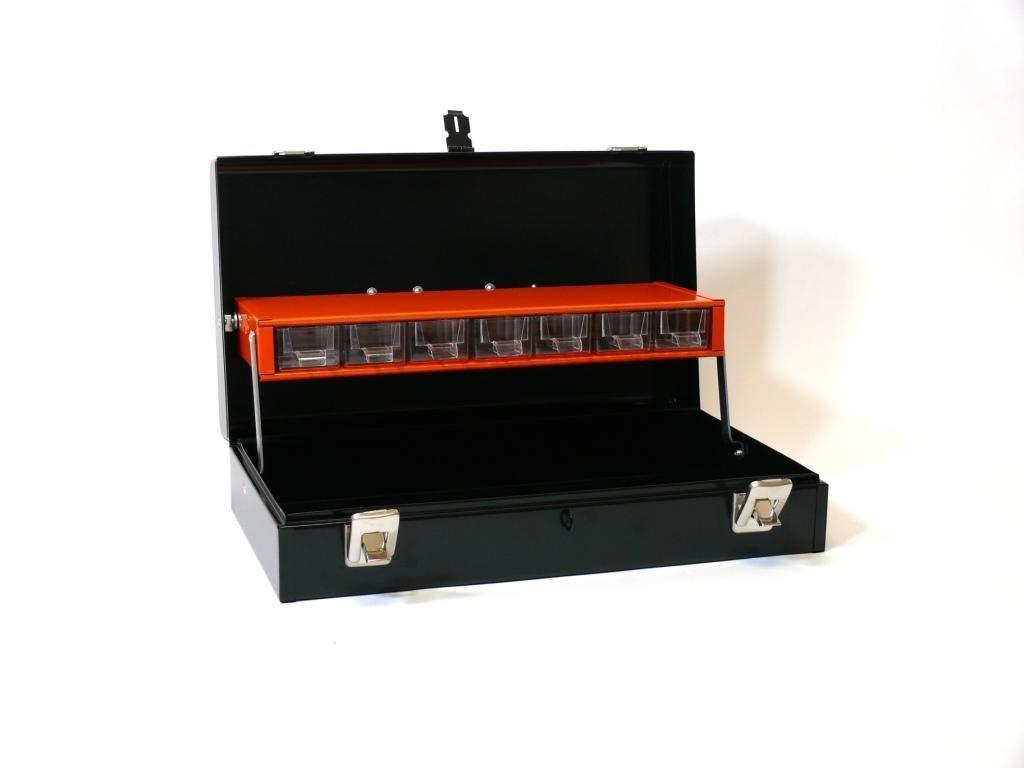 Kufr na nářadí přenosný malý černý 6082