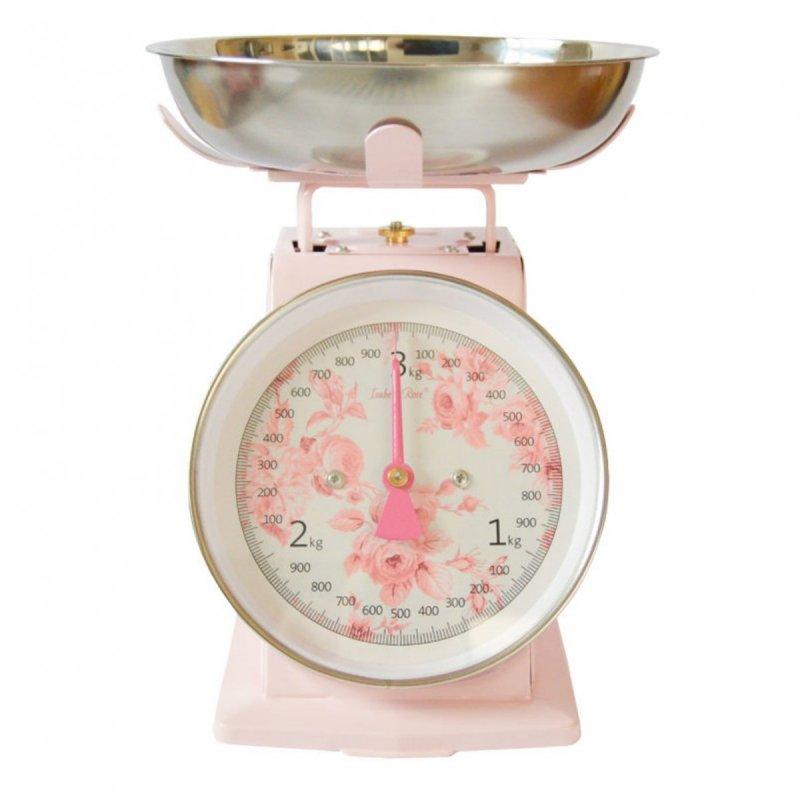 Kuchyňská váha růžová, retro