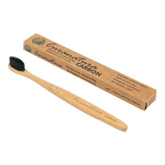 Zubní kartáček bambusový CARBON