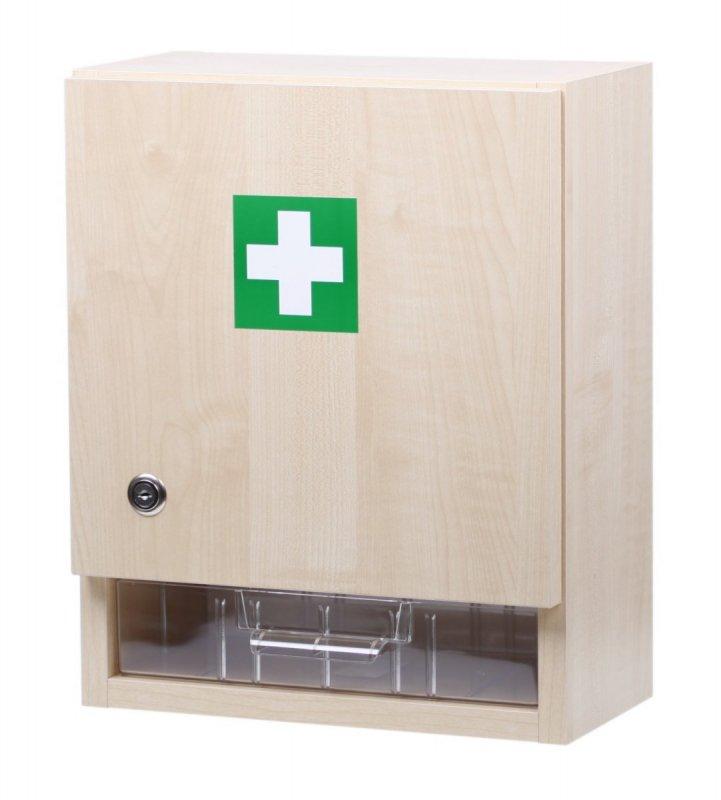 Nástěnná lékárnička velká prázdná – dekor dřevo