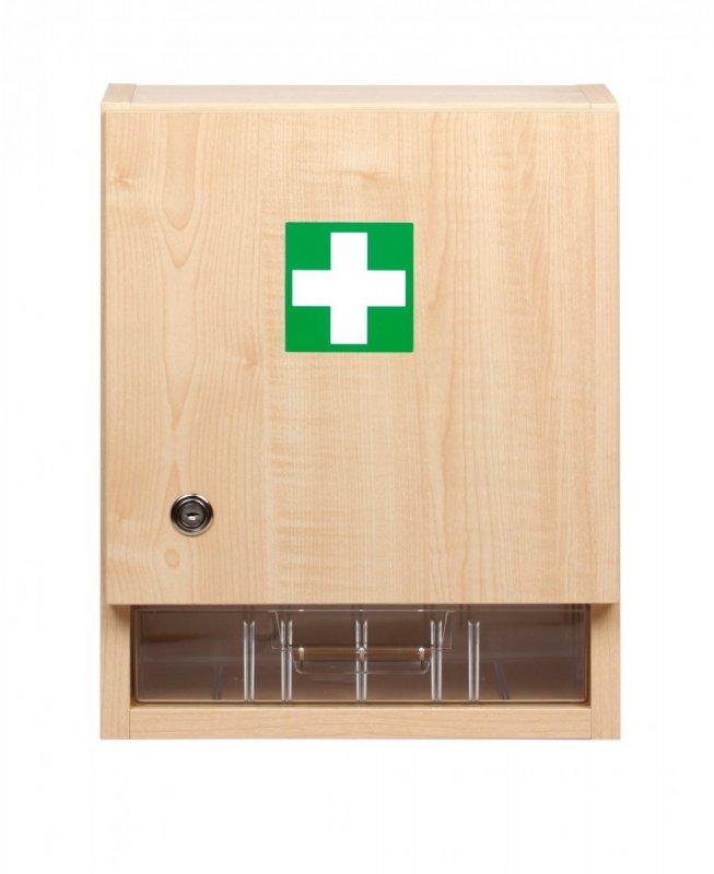 Nástenná lekárnička drevená pre 10 osôb