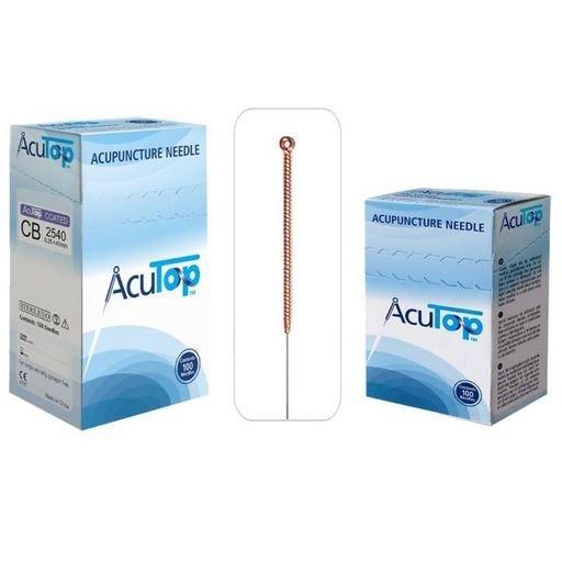 AcuTop akupunktúrne ihly, typ CB, 0,25 x 30 mm, 100 kusov