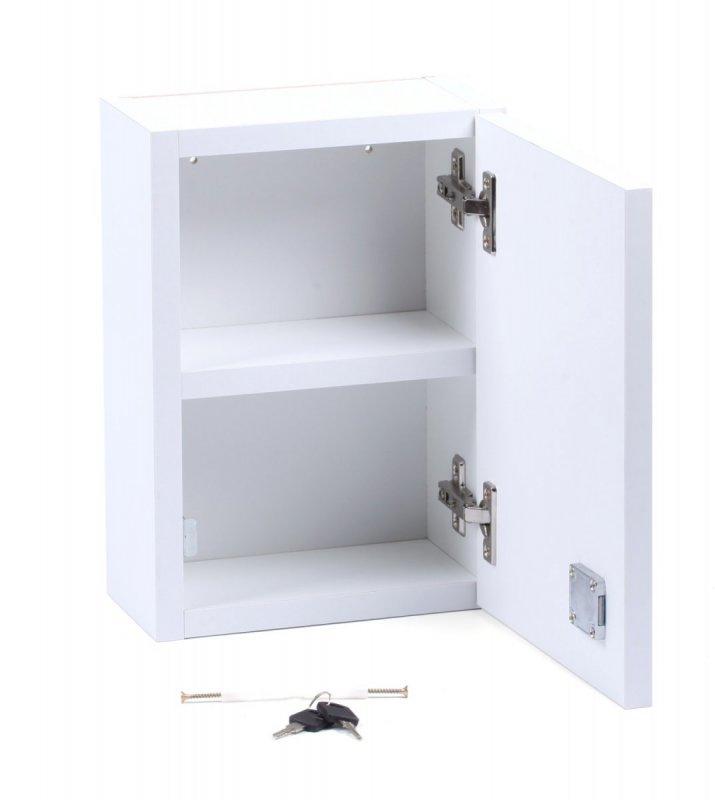 ŠTĚPAŘ Nástěnná lékárnička malá prázdná – dekor bílá