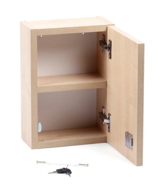 Nástěnná lékárnička malá prázdná – dekor dřevo