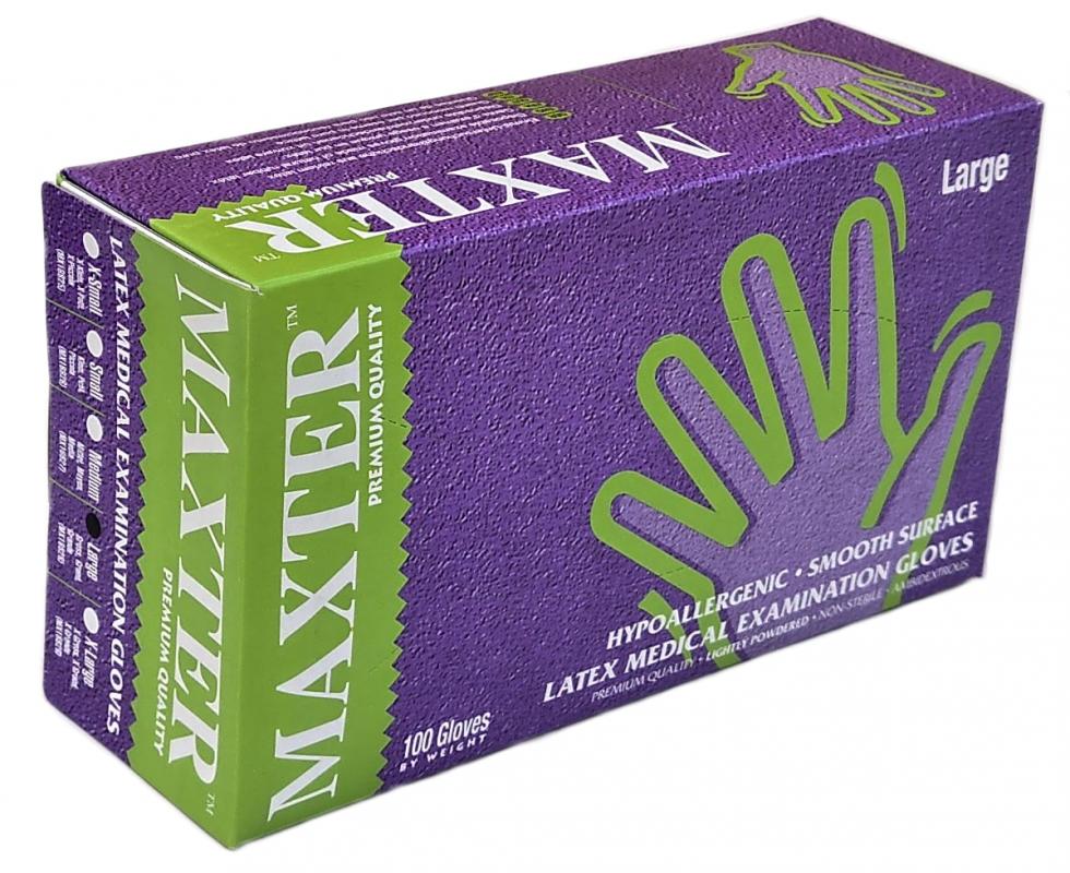 Latexové rukavice púdrované 100 ks