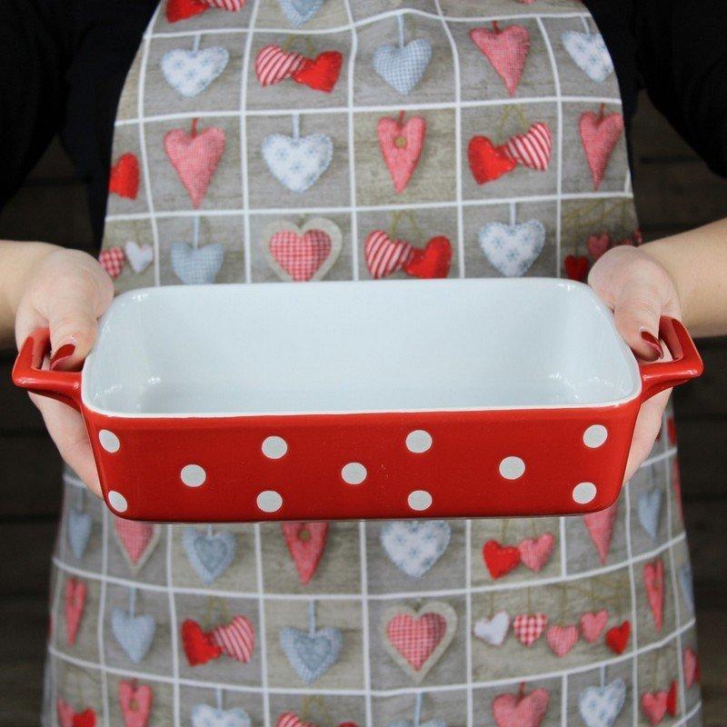 Keramický pekáč 23 cm červený