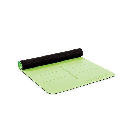 PINOFIT® Cvičebný podložka pre jogu s navigačnými značkami, limetka, 180 x 66 x 0,4 cm