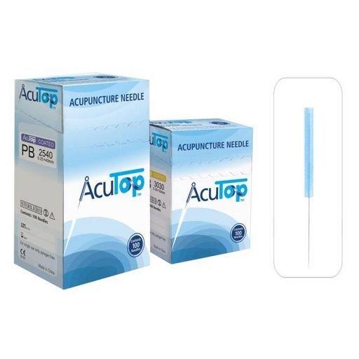 AcuTop akupunkturní jehly, typ PB, 0,25 x 40 mm, 100 kusů