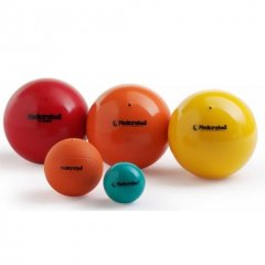PEZZI MedicineBall Compact 17,5 cm, oranžový, 3 kg