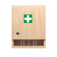 Nástenná lekárnička drevená veľká prázdna