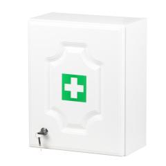 Nástenná lekárnička LUX pre 10 osôb s náplňou – farba - biela