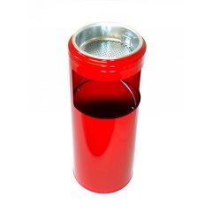 Odpadkový koš 10 l s popelníkem červený
