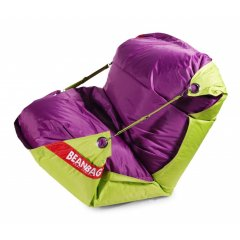 Sedací pytel 189x140 duo limet - purple