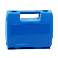 Plastový kufřík prázdný modrý
