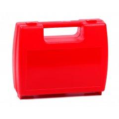 Plastový kufřík prázdný červený