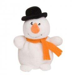 Malý hrejivý plyšák - snehuliak