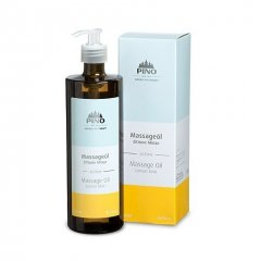 Aromatický masážní olej, Citrón Máta, 500 ml