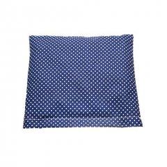 Vankúšik plnený prosom, modrý s bodkami, 18 x 19 cm