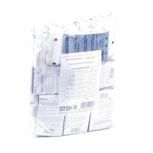 ŠTĚPAŘ Výměnná náplň do autolékárničky velikost III.– přeprava nad 80 osob