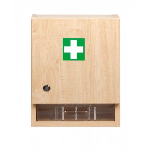 Nástěnná lékárnička velká dřevěná prázdná