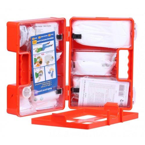 Lékárnička první pomoci v oranžovém kufříku - s výbavou