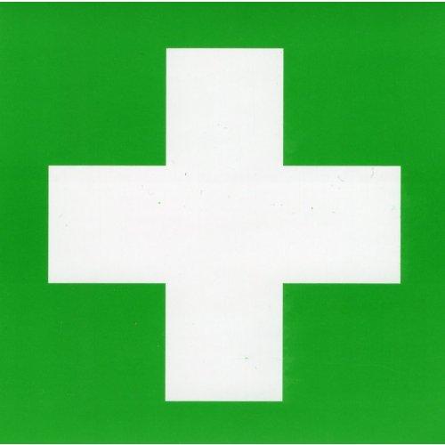 Zdravotnický kříž na lékárničku - samolepka