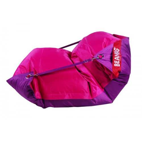 Sedací pytel 189x140 duo pink - purple