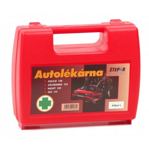ŠTĚPAŘ Autolékárnička velikost I. – kufřík červený