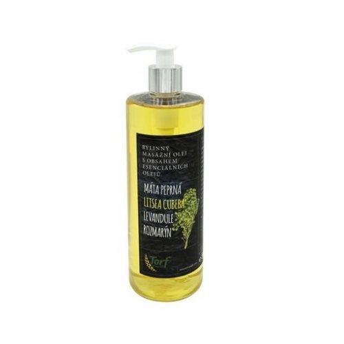 Bylinný masážny olej, Litsea Cubeba, 500 ml