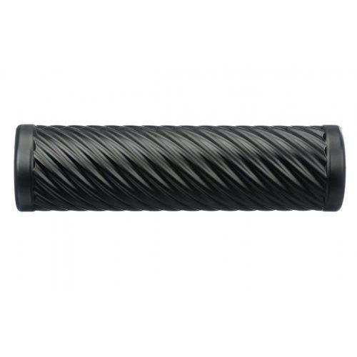 Cvičebný valec pre fasciálnej tréning, s vlnami, čierny