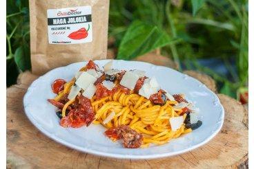 Špagety s ventricina salámem