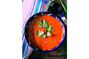 Mexická nudlová polévka 4 druhů chilli