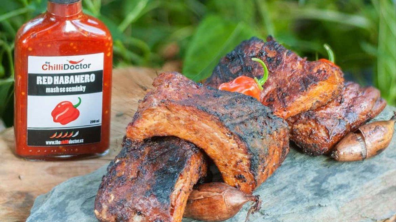 Vepřová žebra marinovaná ve whisky a Habanero chilli