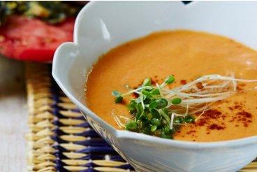Raw habanero rajčatová polévka