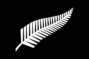 Vlajka národního rugbyového týmu All Blacks