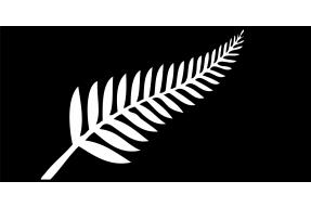 Národní emblém Nového Zélandu se stříbrnou kapradinou