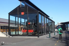 Parní lokomotiva u hlavního nádraží
