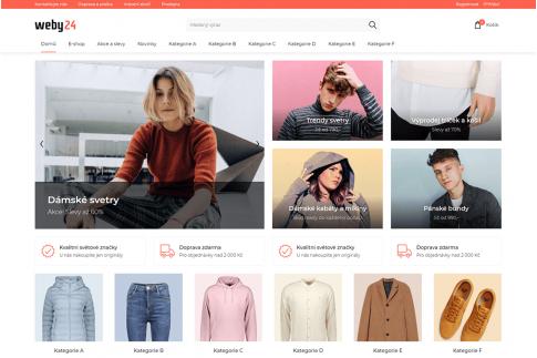 Designové koncepty e-shopů Weby24