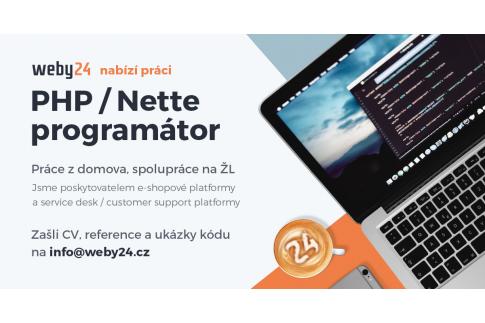 Práce pro PHP / Nette programátora