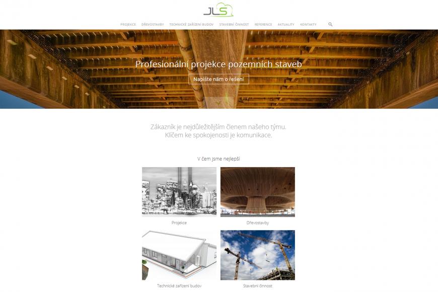 Webové stránky - projekce - JLSConstruct.cz