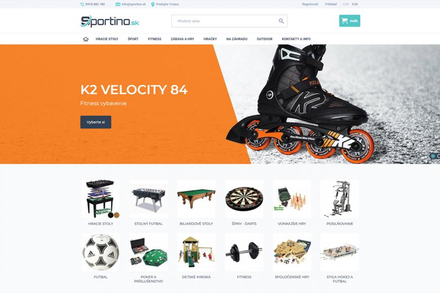 E-shop pro Slovensko - Sportino.sk