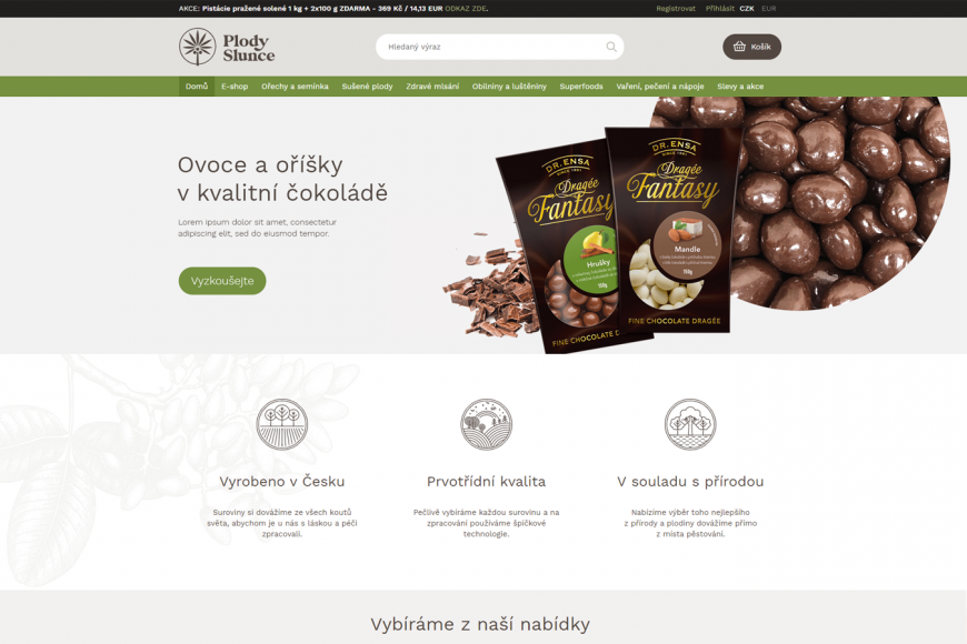 E-shop - Plodyslunce.cz